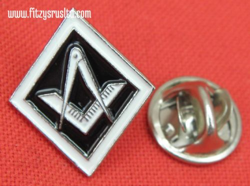 Masonic Square and Compass Lapel / Tie Pin Badge - Freemason Mason Freemasonary